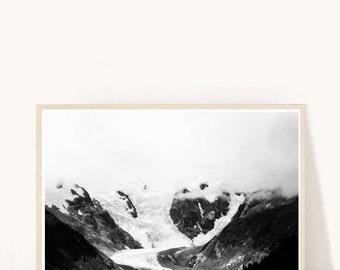 Minimalist Poster, Mountain Print, Black And White Print, Landscape Print, Instant Download, Wall decor, Home Decor, Wall Art