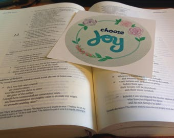 Bible Journaling Sticker / Free Shipping /  Choose Joy / Bible Art / Christian Car Decal / Inspirational Sticker / Journaling Stickers