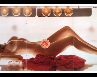 "Mature Playboy October 1972 : Playmate Centerfold Sharon Johansen Gatefold 3 Page Spread Photo Wall Art Decor 11"" x 23"""