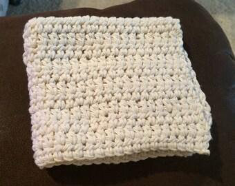Crocheted Dishcloths Off White
