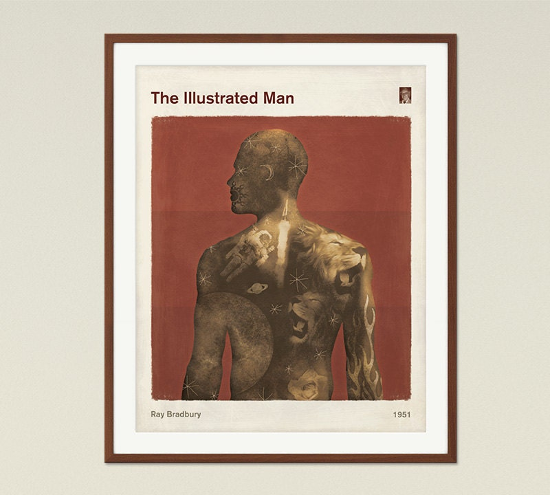 Illustrated Man Book Cover ~ The illustrated man ray bradbury medium book cover poster