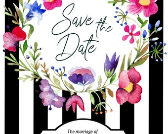 Save Our Date Card - Save The Date Ideas - Save Our Date - Save The Date Boho - Details Card - Wedding Info Card - Save Our Date Cards
