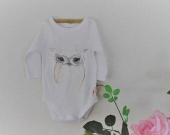 Baby  woodland owl onesie