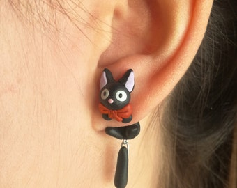 Jiji earring, inspired in Kiki's Delivery Service. Select one single earring or a set/pair (2 in ''quantity'')