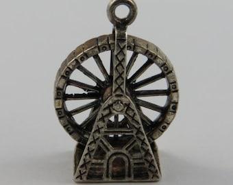 Wien Ferris Wheel Mechanical Sterling Silver Vintage Charm For Bracelet