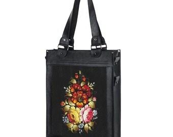 Woman bag Leather bag Handle bag Shoulder bag Handbag Woman handbag Personalized bag Custom bag Zipper bag Black leather bag Woman gift