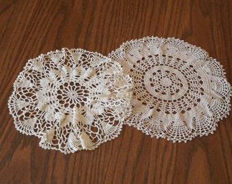 Vintage  Crochet Doilies - Perfect
