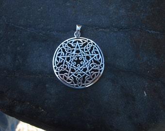 Sterling Silver Celtic Pentagram - #369