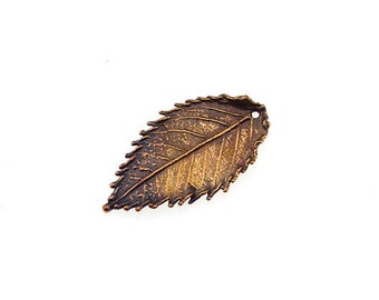 5 PCS Rosehip Leaf Pendant Real Rose Leaf Charm Bronze Leaf Brass Leaf Copper Leaf Silver Leaf Unique Beads Craft Supplies Jewelry Findings