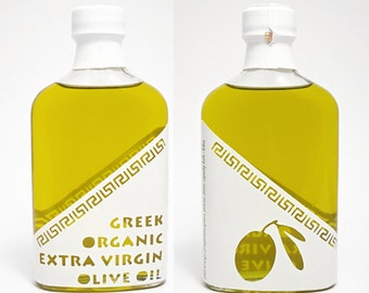 Greek Organic Extra Virgin Olive Oil -  Cold Extraction - Superior Quality -  0,2lt / 6.8oz