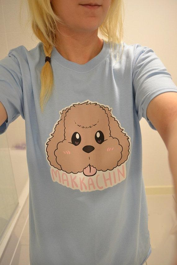 Makkachin Yuri on Ice Tee T-shirt Anime Handmade Poodle