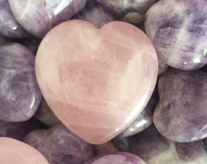 Rose Quartz Heart infused with Love and Reiki / Mother's Day Gift