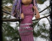 Waldorf doll mermaid tail, custom for Rebekah, final payment