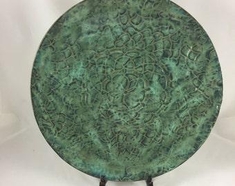 Large Ceramic Serving Platter, Handmade Platter, Hand Built Pottery, Serving Tray, Housewarming Gift, Wedding Gift