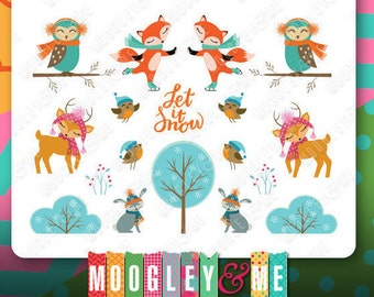 Winter Woodland Animal Planner Stickers for your Erin Condren Life Planner, Happy Planner, Plum Paper, or any planner!