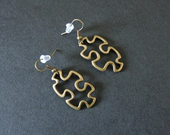 Boucles d'oreilles puzzle / Puzzle earrings