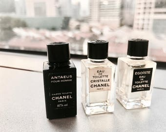 Miniature Trio Chanel Perfume Bottles Collectibles