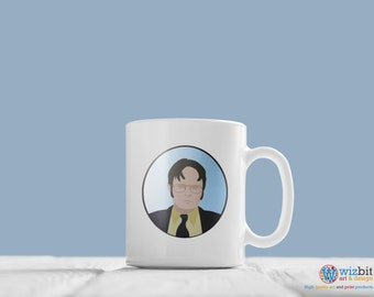 "The Office Mug - Dwight Schrute ""What's my perfect crime""? quote mug."