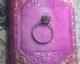 Crown ring, Medieval ring, Tudor ring, silver crown, medieval crown, Tudor crown, Tudor jewellery, Medieval jewelry, Queens jewels,