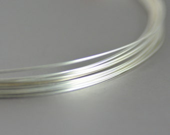 Sterling Silver Half Hard Round Wire 22 Gauge - 1/2 ounce