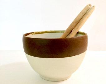 Handmade stoneware large serving bowl. Ceramic. Handmade