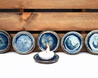 Glass Circle Tealight Holders