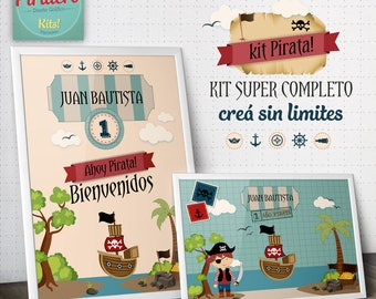 Pirate - pirate - printable printable Kit kit - decoration for parties
