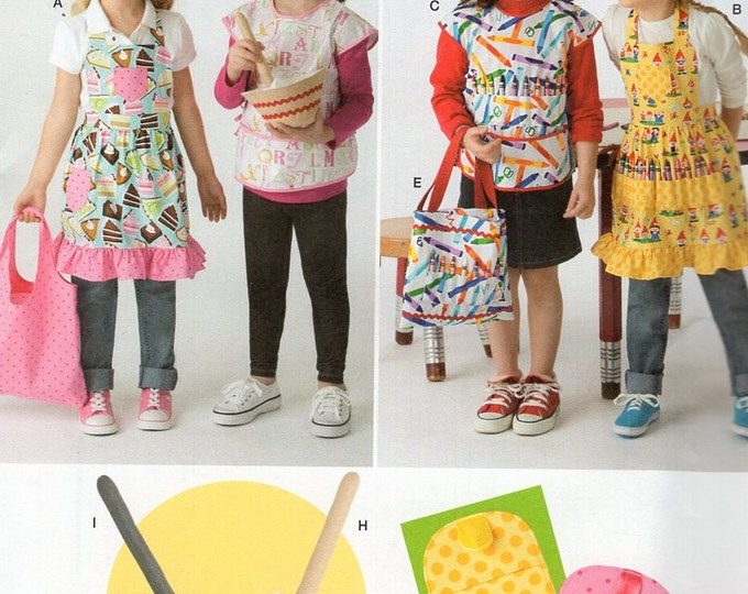 FREE US SHIP Simplicity 2295 Sewing Pattern Batter Up! Fabric Pretend Play food with Carry Bag Matching Apron Potholder Uncut Cake Baking