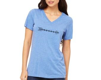 Resist Shirt / V-Neck Shirt / March Shirt / Protest Shirt / Equality / The Resistance / Democrat Tshirt / Feminist Tshirt / Arrow Shirt