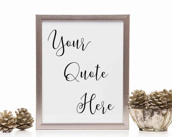 8X10 Picture Frame Decal, Christmas Gift for Mom from Daughter, Custom Quote, Create Your Own Decal, Vinyl Letters, Housewarming Gift