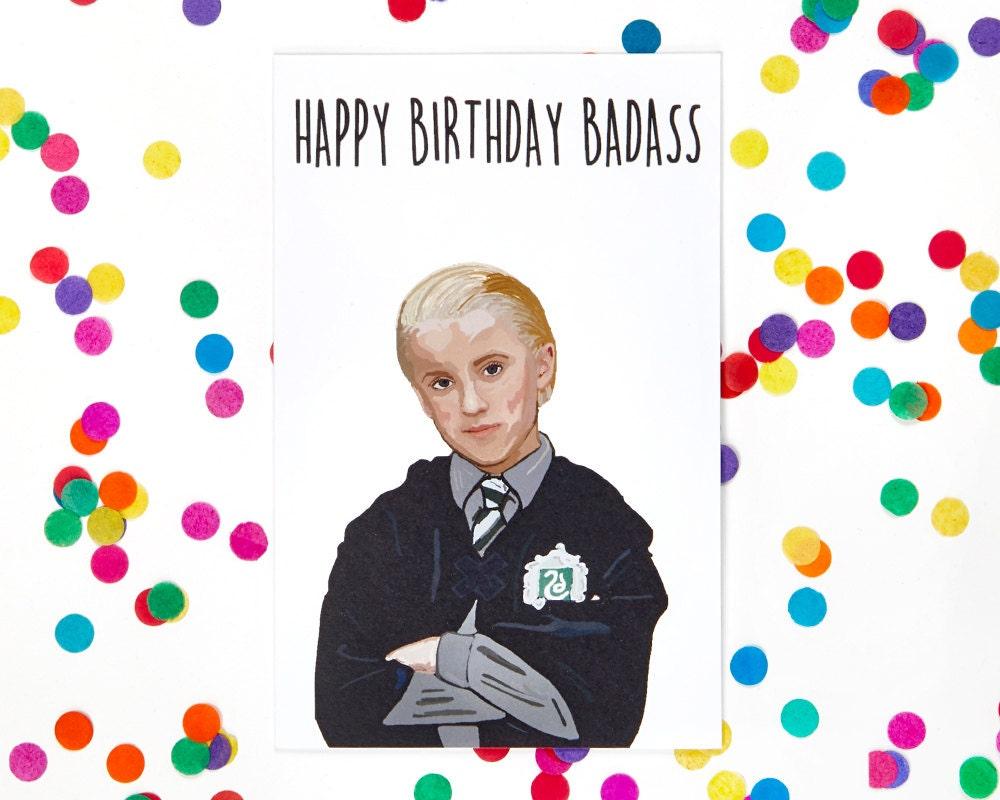 Funny Birthday Card Harry Potter Draco Malfoy Birthday Card – Zayn Malik Birthday Card