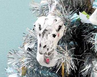 Giraffe Ornament, Animal Christmas Ornament
