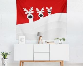 Christmas Tapestry | Christmas Wall Decor | Christmas Decoration | Christmas Wall Hanging | Christmas Wall Tapestry | Christmas Wall Art