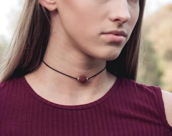 Lava Choker, Black Choker, Choker Necklace, Gemstone Choker, Boho necklace, Boho choker, Gypsy necklace, Stones by Grace