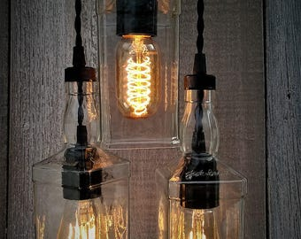 industrial lighting for the home. contemporary for industrial upcycled whiskey triple pendant lighting edison  bottle lighting throughout for the home