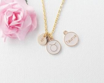 Taurus Zodiac Sign, Astrology Necklace, taurus necklace, star sign necklace,star sign necklace, April and May birthday/ GFZSSNTAU1