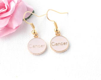 Cancer earrings,Cancer jewellery,Cancer birthday, Cancer gift, zodiac earrings, constellation earrings, gold earrings,