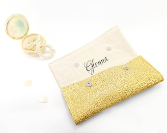 Bridesmaid purse Gift for bridesmaid Gold clutch gift Set of 10 purses Gold bridesmaid clutch set of 10 Bridesmaid gift Personalized clutch