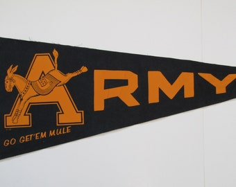 Army Pennant (West Point) Go Get'Em Mules-1960's