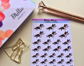 PETS BORDER COLLIE Dog Planner Stickers for Erin Condren, Plum Paper, Happy Planner, Kikki K