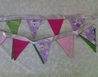 Fairy bunting and table cloth.