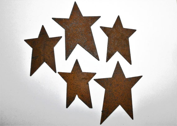 5 Rusty Tin Primitive Stars, Rusty Tin, Wreath Making, Prim Stars, Prim Crafts, Primitive Supplies, Tin Star, Rustic Stars, Star, Rusty Star