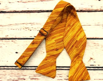 Wood Bow Tie - Freestyle Bow Tie - Adult Bow Tie