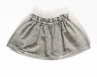 Trendy Baby Clothes, Baby Girl Clothes, Baby Skirt, Toddler Skirt, Hipster Baby Clothes, Striped Skirt, Black Skirt, White Skirt, Baby Gift
