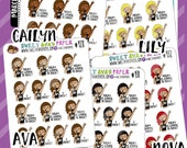 Rock Star Girl Planner Stickers | Doodle Planner Stickers | Character Planner Stickers | Singing Stickers | 428 | 429 | 430 | 431 | 432