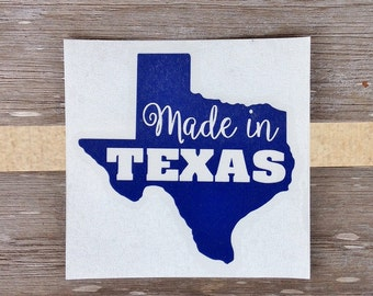 Made in Texas Decal