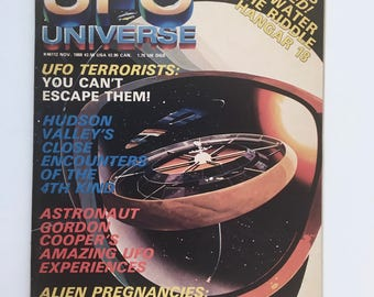 UFO Magazine, UFO Universe, Condor Books, 1988, NASA Photos, Interstellar Communications, Men in Black, Project Blue Book, Asteroids, Aliens