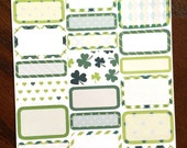 St Patrick's Day Mixed Boxes Planner Stickers - March Planner Stickers - Half Boxes - Quarter Boxes - St Paddy's Day Stickers - Shamrocks