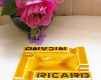 Old ashtray RICARD ceramic Proceram AUBAGNE / / Vintage french RICARD ashtray in Majolica