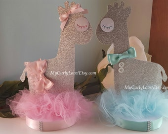 Giraffe Centerpiece/Girl Giraffe Baby Shower Centerpiece/Giraffe Boy Baby Shower Centerpiece/Gender Reveal Centerpiece/Twins Centerpiece